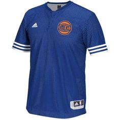 brand new 7def1 b07a3 adidas New York Knicks Blue On-Court Shooter T-Shirt Knicks Team, Los