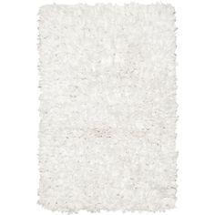 Chandra Paper Shag White Area Rug | AllModern