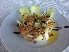 Ensalada de endivias, Salmón y frutos secos