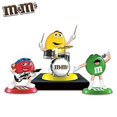 m & m characters | Characters Rock Band Figurine Collection: Rock Out With M&M'S ...