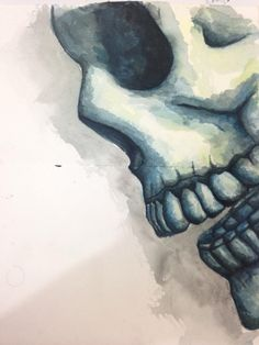 Cráneo ... Acuarela