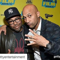 """#Repost @gettyentertainment with @repostapp ・・・ #JordanPeele and #KeeganMichaelKey attend the screening of """"#Keanu"""" during the 2016 #SXSW Music, Film + Interactive Festival at #Paramount Theatre in #Austin, #Texas 