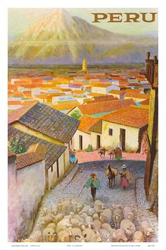 Cusco, Peru c.1950's Kunstdruk
