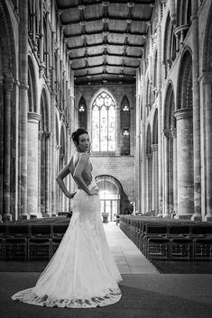 Platinum White fishtail beaded lace wedding dress with lace edge trim. Church wedding, simple elegance and pure beatuy. V neckline and beaded straps with swarofski crystals. Matched with a cathedral white tulle veil and beaded edge. Kate Wedding Dress, Kate Dress, Designer Wedding Dresses, One Shoulder Wedding Dress, Lace Wedding, Backless Gown, White Tulle, Church Wedding, Simple Elegance