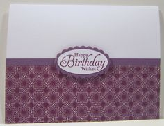 """Simply Sketched """"Happy Birthday Wishes"""" Whisper White Perfect Plum Pocketful of Posies Designer Series Paper Blackberry Bliss Ink"""