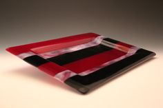 Hey, I found this really awesome Etsy listing at https://www.etsy.com/listing/215533784/pink-purple-stripe-platter-fused-glass
