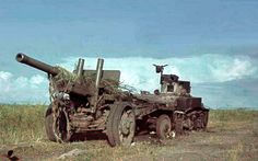 US Stuart Light Tank in Soviet service with a Towed Gun, pin by Paolo Marzioli