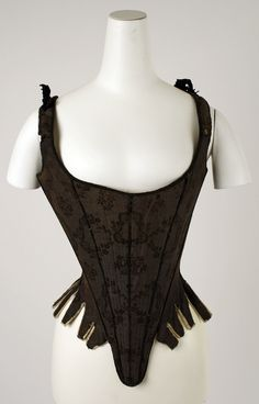 Corset (Stays): ca. 18th century.
