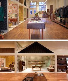 Orla Kiely clothing store, Mercer Street, New York.  Super cute store. Looks like a giant doll house inside.  :)