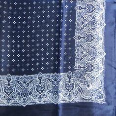 Navy blue silky tichel with pattern, $12.50