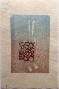 Untitled (Underwater): Monoprint shadow on Japanese Rice paper. Image size 12.5cm x 19cm.  SOLD