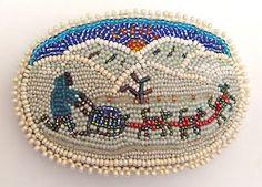 Northern Alaskan Native Beadwork Barrette
