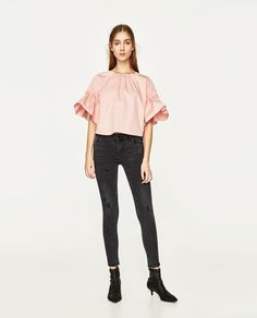 ZARA - WOMAN - LOW-RISE SLIM FIT EMBRACE JEANS