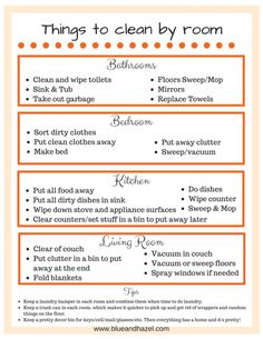 House cleaning schedule for the overwhelmed mom printable. room by room cleaning checklist printable. Daily house cleaning schedule for desperate overwhelmed moms! Includes printable daily checklist and room by room checklist. You need these tips! Cleaning Checklist Printable, House Cleaning Checklist, Clean House Schedule, Daily Checklist, Chore Checklist, Tips And Tricks, Deep Cleaning Tips, Cleaning Hacks, Room Cleaning Tips