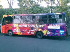 BUS DE DISEÑO HOLI FESTIVAL OF COLOURS MÉXICO CONTRATA