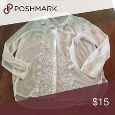 Lauren Conrad Blouse Sheer white blouse, like new condition. No stains, etc. LC Lauren Conrad Tops Blouses