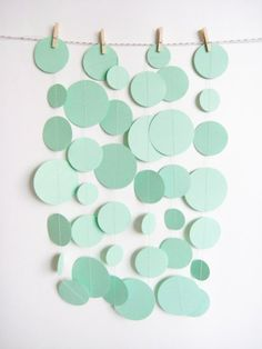 Circles out of construction paper