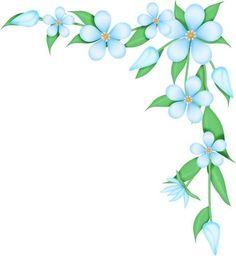 58 Ideas Flowers Drawing Border Clip Art For 2019 Flower Boarders, Flower Frame, Flower Art, Art Flowers, Spring Flowers, Boarder Designs, Page Borders Design, Café Design, Design Room
