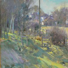 david curtis The Old Vicarage Misson - Oil 16x16