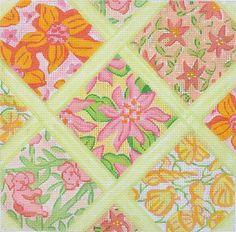 Lilly Lattice Patchwork Medium Square -Yellows