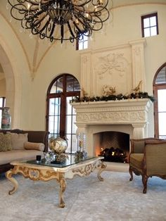 Stone Fireplace Designs traditional living room