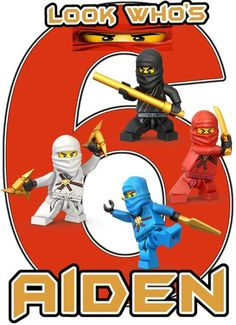 Lego Ninjago Red Birthday Party t Shirt Iron On Transfer Patch ...
