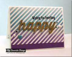 Happy Everything, Happy Die-namics, Diagonal Stripes Stencil - Jodi Collins #mftstamps