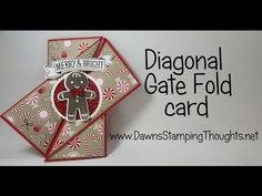 Diagonal Gate Fold card video (Dawns stamping thoughts Stampin'Up! Demonstrator Stamping Videos Stamp Workshop Classes Scissor Charms Paper Crafts)