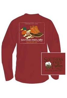 Southern+Fried+Cotton+Long+Sleeve+Shirt+Duck+Necessities+SFM3466