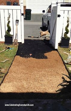 Tips on installing a pea gravel garden path, Backyard DIY project, How to install a garden path, Celebrating Everyday Life with Jennifer Car...