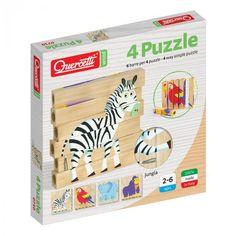 Scatola 4 Puzzle - Jungla