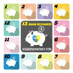 Why We Have 13 Bank Accounts: We have paid down more debt and built more wealth with this process. It's not excessive...it's the smart thing to do! Check out what we use each account for.    #personalfinance #getoutofdebt #debtfree #marriage #money