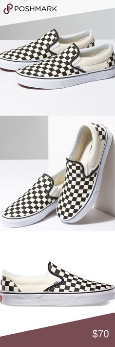 dc32a24e2827d7 New in Box size 8.5 Checkered slip on Vans Brand new in box size Men s 8.5