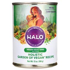 Halo, Purely For Pets Holistic Garden of Vegan Recipe for Adult Dog 13 oz Can - Swanson Health Products Dog Food Recipes, Vegan Recipes, Dessert Recipes, Desserts, Dessert Food, Cooking Recipes, Dog Garden, Garden Care, Vegan Dog Food