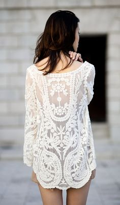 sheer lace back