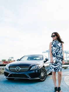 Photographer Courtney Ryan with and the Mercedes-Benz C-Class Coupé. New C Class Coupe, First Time Driver, Mercedes Benz Models, Benz C, Concept Cars, Best Sellers, Sporty, Shiba, Lady