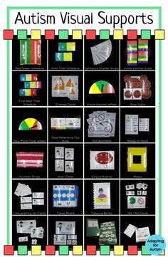 These autism visual supports are a must for any special education classroom! Visual aids for schedules, behavior management, communication and understanding expectations.