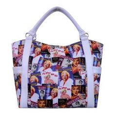 Women's Marilyn Forever Beautiful Collage Shopping Bag MM614