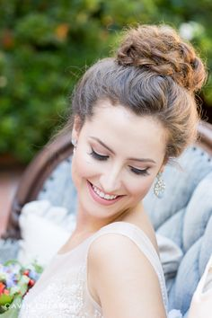 Darlington House Wedding | Degas Ballet Themed Wedding. beautiful bridal portrait of a bride with a braided bun