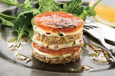 Learn how to make our Simply Better Smoked Salmon Timbale, which can be made up to two days in advance Wine Recipes, Cooking Recipes, Best Starters, Smoked Salmon, Salmon Recipes, Atkins, Salmon Burgers, Recipies, Low Carb