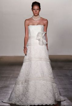 Rivini Celeste - Tiered Lace Gown with Organza Inserts -  Available at Julian Gold Bridal