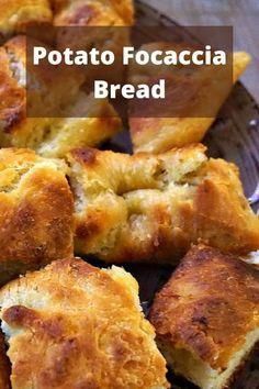 Italian Potato Focaccia Bread Focaccia Bread Recipe, Bread Recipes, Cooking Recipes, Italian Potatoes, Delicious Sandwiches, International Recipes, Italian Recipes, Food To Make, Easy Meals