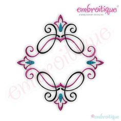Embroitique Charly Font Frame