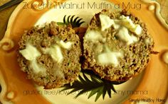 Gluten Free Zucchini Muffin in a Mug that is low carb.