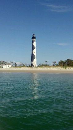 Cape Lookout, NC Nc Lighthouses, North Carolina Lighthouses, Atlantic Beach, Emerald Isle, Light House, Fishing Boats, Boating, Geography, Cape