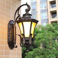 Outdoor Wall Lamps European style outdoor waterproof courtyard door American villa garden post lamp balcony LU807112 #Affiliate