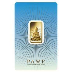 10 gram PAMP Suisse Gold Bar - Buddha (in Assay) .9999 Fine