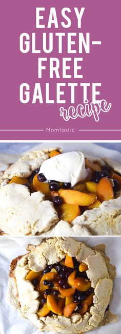 Easy Gluten-Free Galette Recipe - I created this sweet cinnamon-sugar–crusted gluten-free galette with a GF biscuit mix, fresh peaches and blueberries, and dark brown sugar. It has everything that I love about a peach cobbler but in a simpler medley of both flavor and presentation.