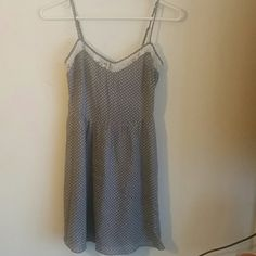 A Forever 21 polka dot lace dress A grey and white polka dot lace summer dress Forever 21 Dresses Mini