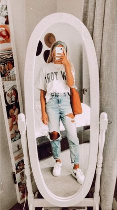 Cute Lazy Outfits, Casual School Outfits, Trendy Summer Outfits, Teenage Outfits, Teen Fashion Outfits, Retro Outfits, Look Fashion, Stylish Outfits, Girl Outfits